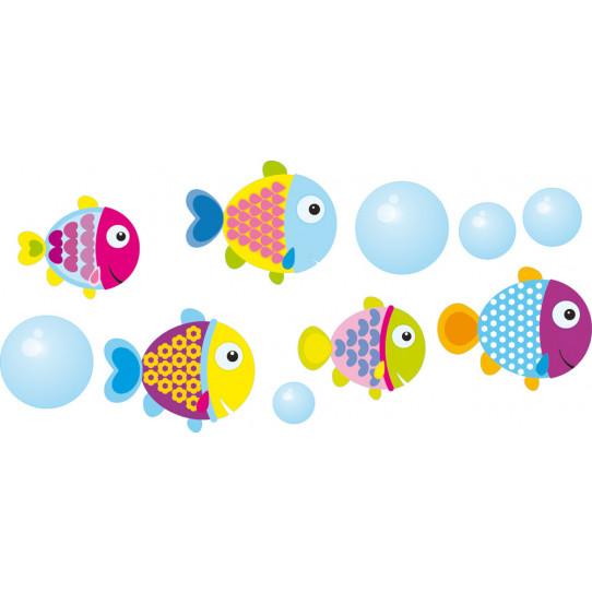 kit Stickers poissons et bulles
