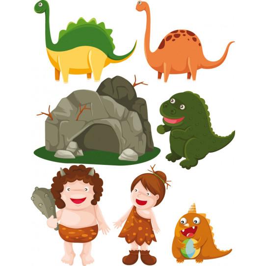 kit stickers préhistorique