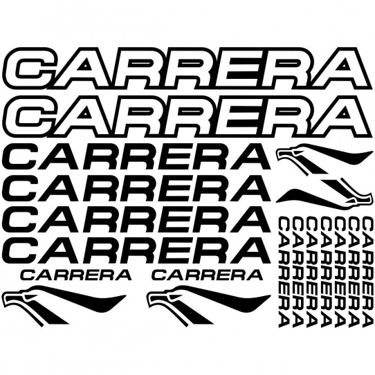Kit stickers vélo carrera bikes