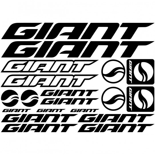 Kit stickers vélo giant bikes