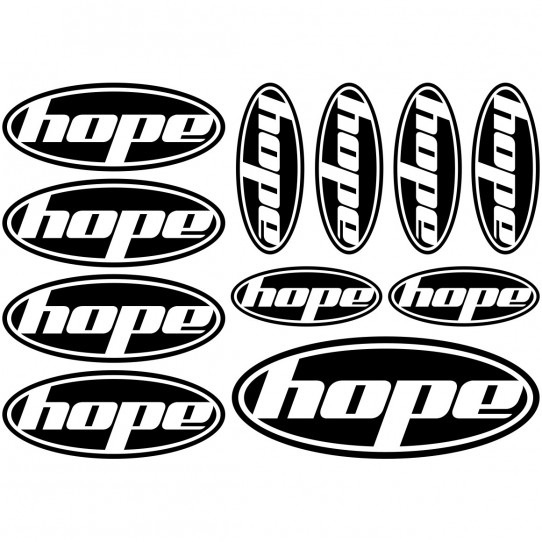 Kit stickers vélo hope bikes