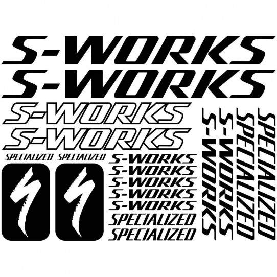 Kit stickers vélo specialized s-works bikes