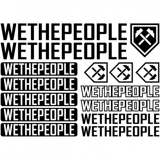 Kit stickers vélo we the people bikes