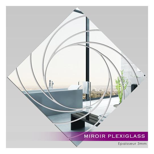 Miroir Plexiglass Acrylique -  Carré Spirales 2
