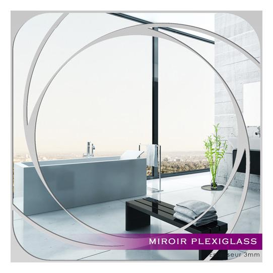 Miroir Plexiglass Acrylique - Carré Spirales 3