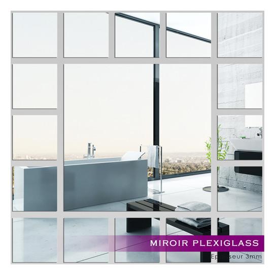 Miroir plexiglass acrylique carrs minimaxi des prix 50 for Miroir 50x50