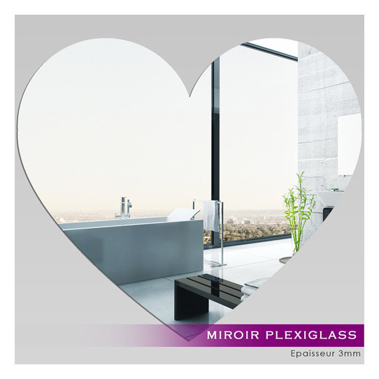 Miroir Plexiglass Acrylique - Coeur 2