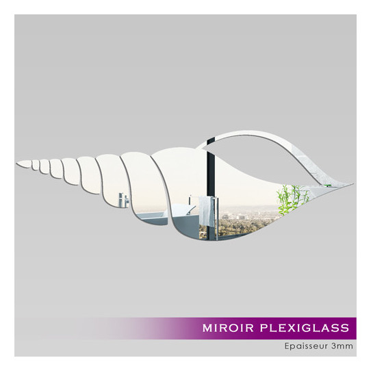 Miroir Plexiglass Acrylique - Coquillage 2