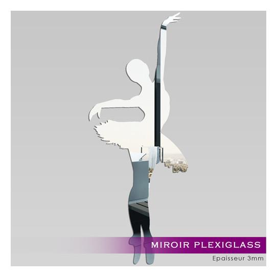 Miroir Plexiglass Acrylique - Danseuse de Ballet 1