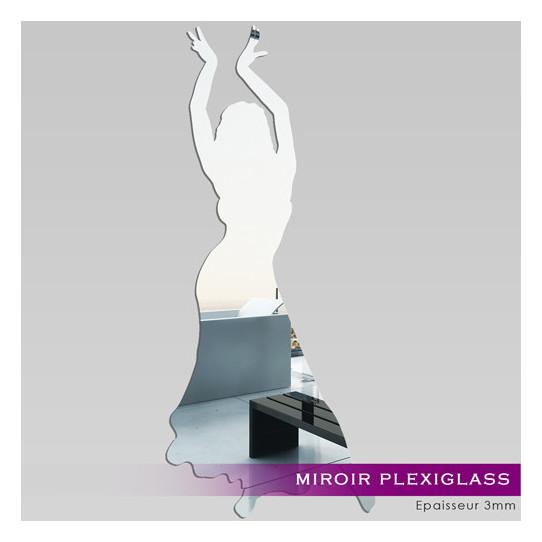 Miroir Plexiglass Acrylique - Danseuse Orientale