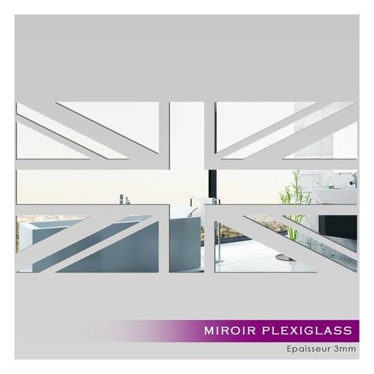 Miroir Plexiglass Acrylique -  Drapeau Anglais 1