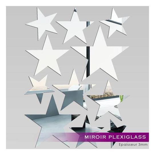 Miroir Plexiglass Acrylique - Kit 11 Etoiles