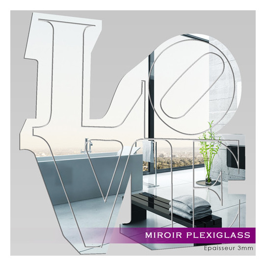 Miroir Plexiglass Acrylique - Love 1