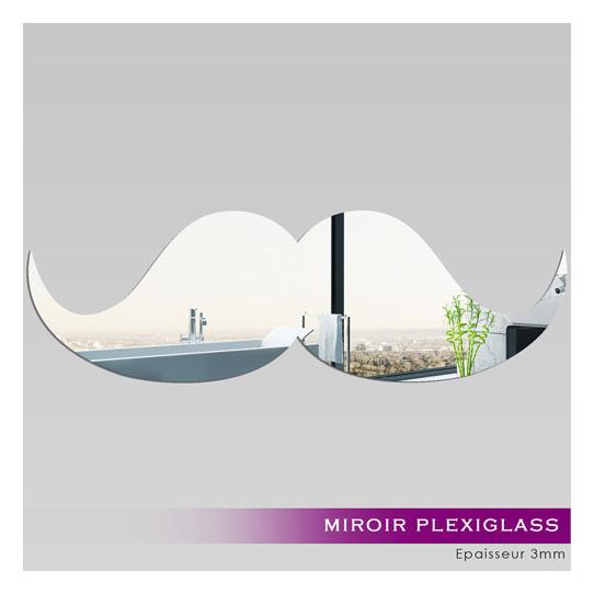 Miroir Plexiglass Acrylique - Moustache