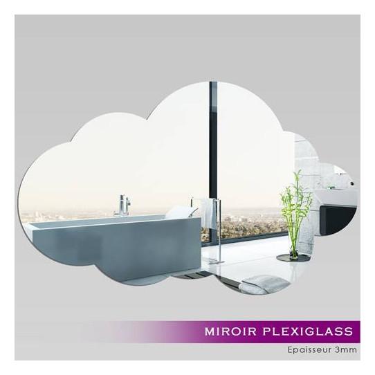 Miroir Plexiglass Acrylique - Nuage 4