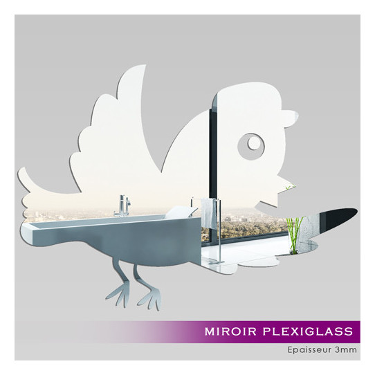 Miroir Plexiglass Acrylique Oiseau