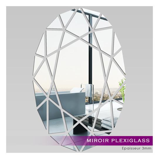 Miroir Plexiglass Acrylique - Oval Mosaïquee