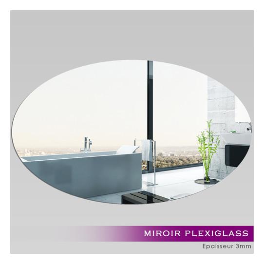Miroir Plexiglass Acrylique - Ovale Horizontale
