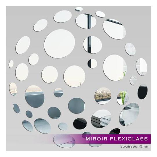Miroir Plexiglass Acrylique - Petits Ronds 10