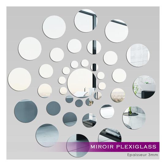 Miroir Plexiglass Acrylique - Ronde des points