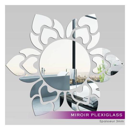 Miroir Plexiglass Acrylique - Soleil fleur