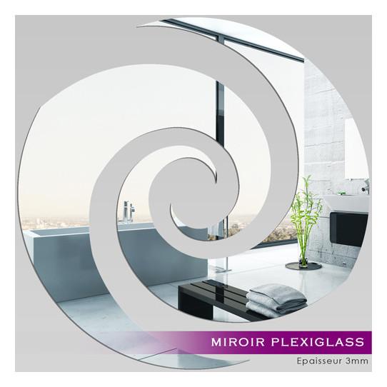 Miroir plexiglass acrylique spirale 9 des prix 50 for Miroir acrylique