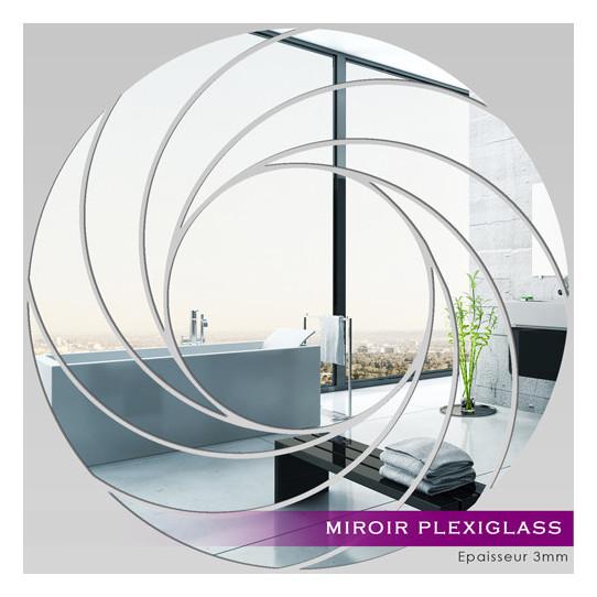 Miroir Plexiglass Acrylique - Spirales Design 5