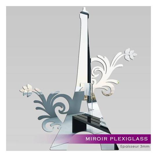 Miroir Plexiglass Acrylique - Tour Eiffel 1