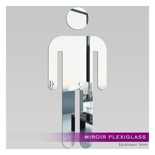 Miroir Plexiglass Acrylique WC homme