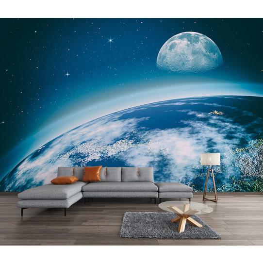 Papier peint espace planète terre
