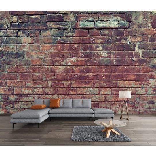 Papier peint mur en brique