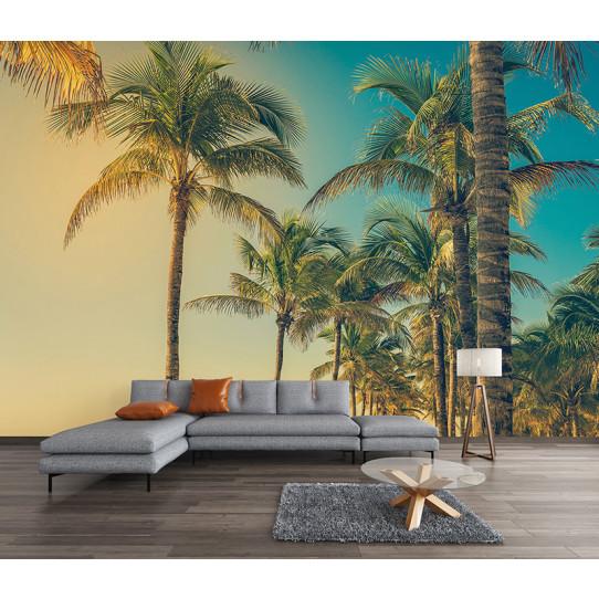 Papier peint palmiers