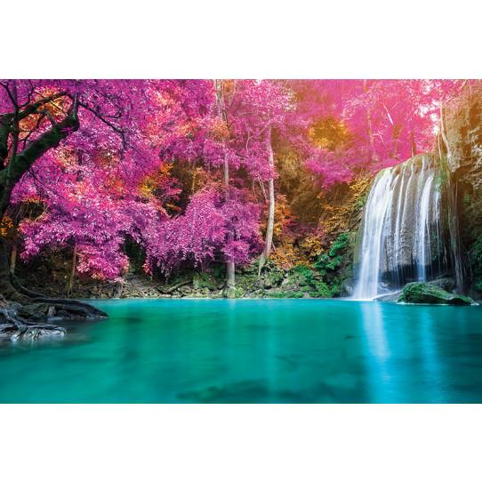 Poster - Affiche lac cascade