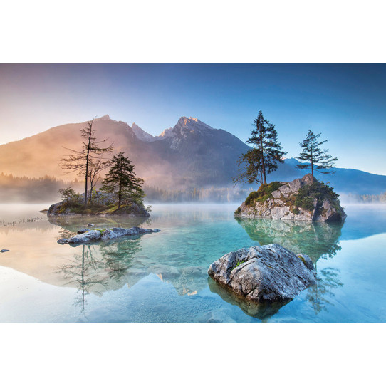 Poster - Affiche lac montagne