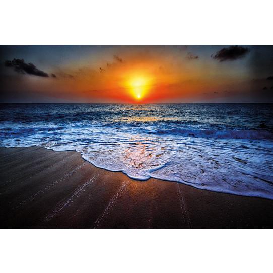 Poster - Affiche plage couché de soleil