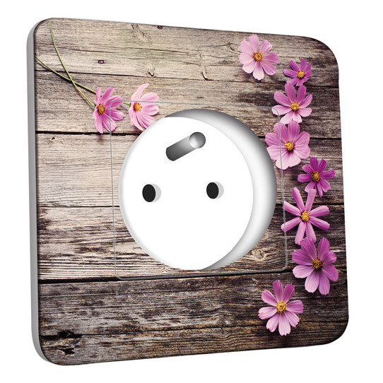 Prise décorée - Bois Fleurs