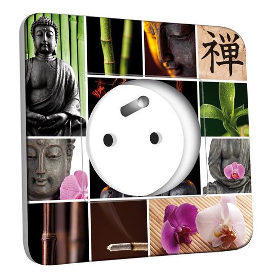 Prise décorée - Bouddha Zen 4