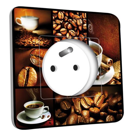 Prise décorée - Café