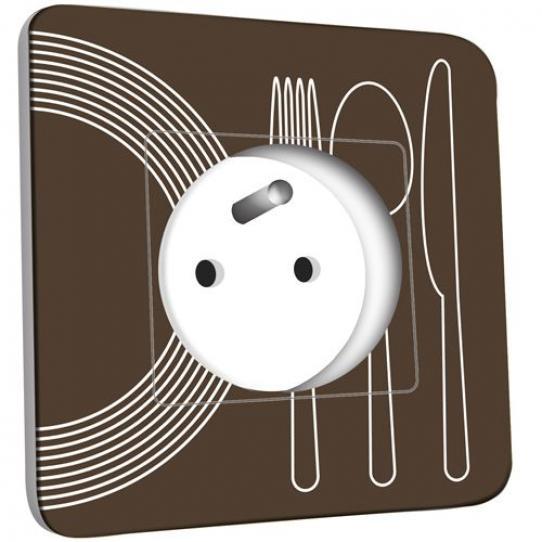 Prise décorée - Cuisine Couverts Design 1