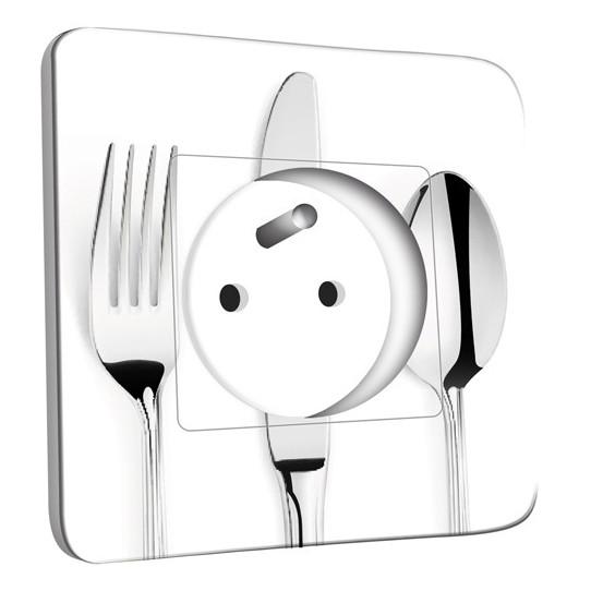 Prise décorée - Cuisine Couverts design