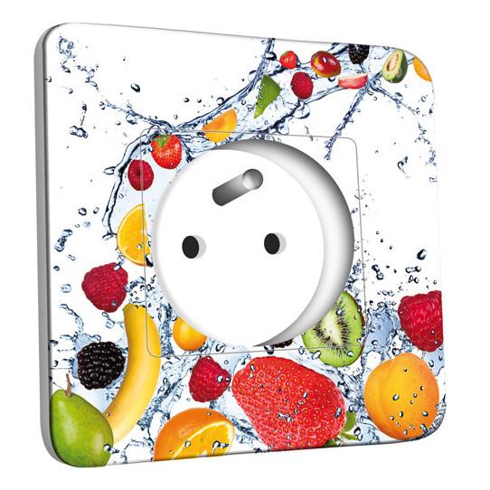 Prise décorée - Fruits Design