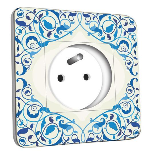 Prise décorée - Liseret bleu