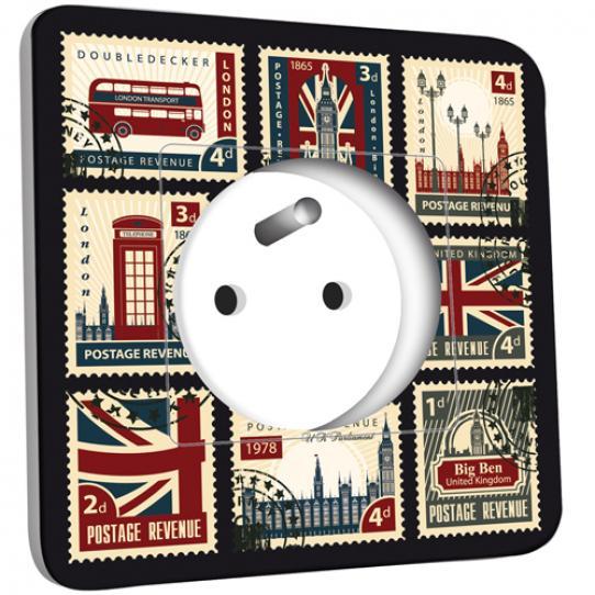Prise décorée - London Timbres postales
