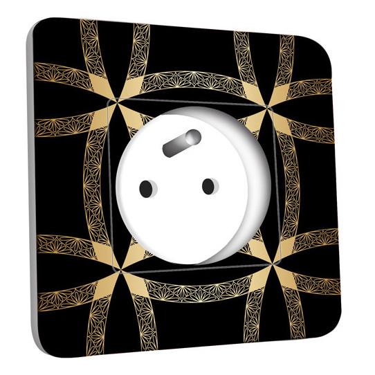 Prise décorée -  Motif Oriental Black&Gold 1