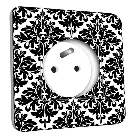Prise décorée - Motif Oriental Black&White 2