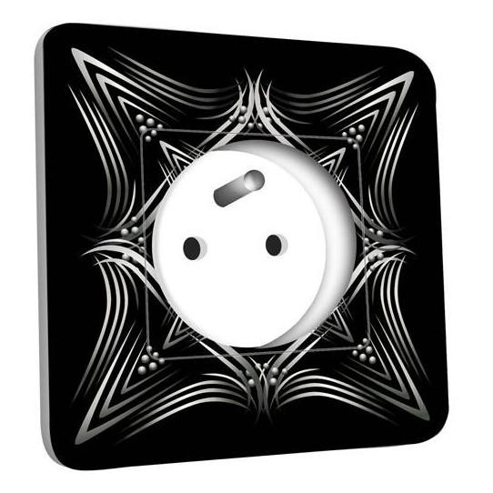 Prise décorée - Motif Oriental Black&White 4