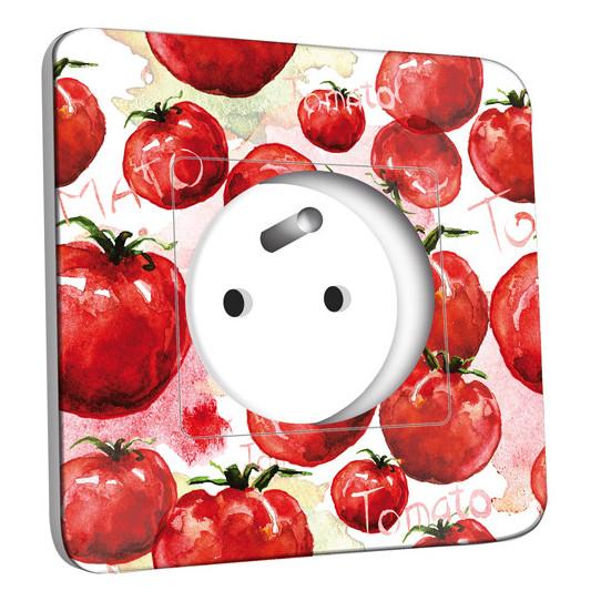 Prise décorée - Tomates Peinture