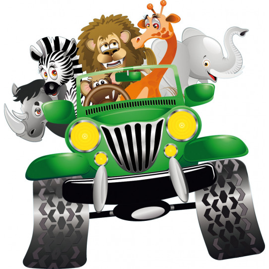 Stickers animaux 4x4