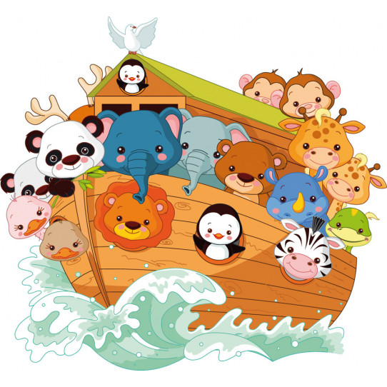 Stickers animaux bateau