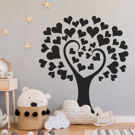 Stickers arbre coeurs